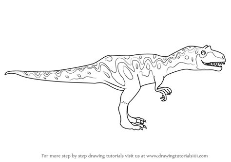 doodle dinosaur draw ruptor learn how to draw alvin allosaurus from dinosaur