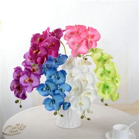 artificial flower for home decor artificial butterfly orchid silk flower bouquet