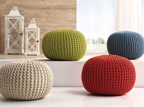 how to make a pouf ottoman furniture cable knit pouf for home accessories and living