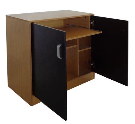 Laptop Cabinet Desk Foxhunter Black Pc Computer Desk Table Home Office Hideaway Workstation Cabinet Ebay