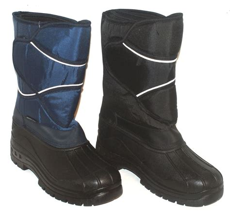 mens lined winter boots mens waterproof lined snow winter boots black or navy uk7