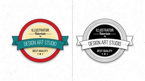 tutorial illustrator logo vintage illustrator tutorial vintage badge logo design youtube