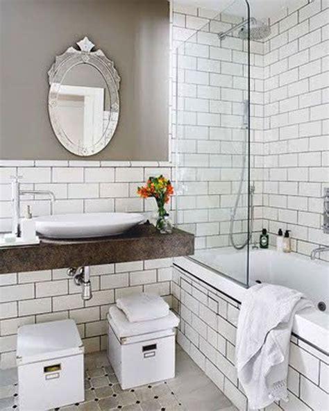 vintage bathroom in white subway tiles bathroom stuff