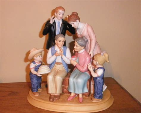 home interior denim days figurines denim days home interior family figurine new in box people