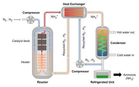haber bosch process diagram haber process bioninja