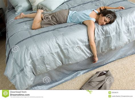 out on a bed exhausted business royalty free stock image image 23559676