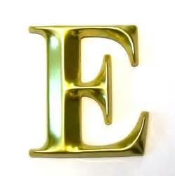 3d gold letter e 3d letters