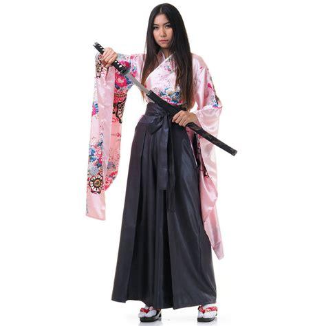 japanese samurai kimono blouse hakama robe