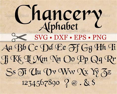 eps format fonts chancery calligraphy monogram svg dxf eps png medieval