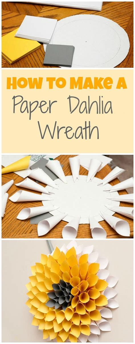 How To Make Wreath With Paper - how to make a paper dahlia wreath pictures photos and