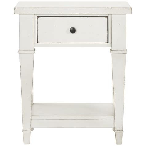 White One Drawer Nightstand City Furniture Stoney White 1 Drawer Nightstand