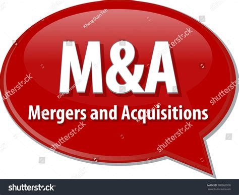 Mergers And Acquisitions Mba by Word Speech Illustration Business Acronym Stock