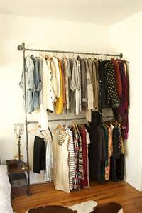 industrial closet on pipe closet modern