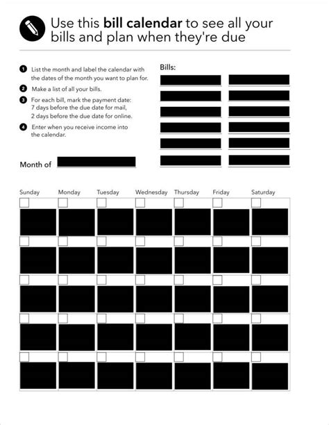 Bills Calendar Bills Calendar Template Photos Exle Resume Ideas