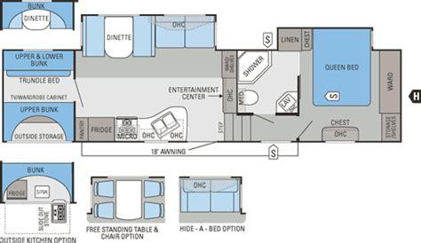Bunkhouse 5th Wheel Floor Plans Jayco Fifth Wheel Bunkhouse Floor Plans Jayco Eagle Floor