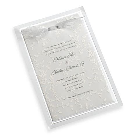 wedding invitation kits with vellum buy gartner studios 10 count white vines vellum invitation kit from bed bath beyond