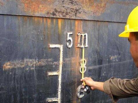 Barge Draft Tables Draft Survey Barge Overhang Method Marine Surveyor Information