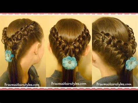 hairstyles mp4 videos download download woven pyramid half up hairstyle tutorial