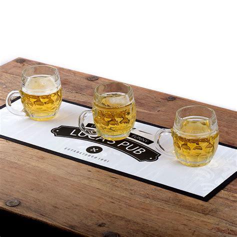 personalised bar runners uk custom bar mats beer and cheer