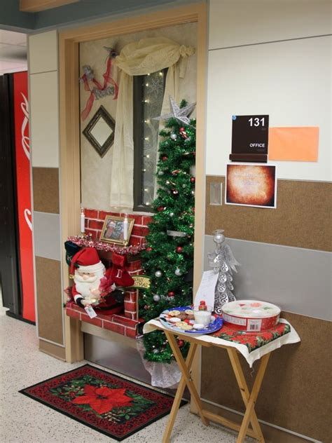 themes in story of the door 40 office christmas decorating ideas all about christmas