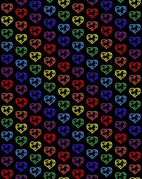 heart pattern rainbow heart wallpaper 3 ninth circle design
