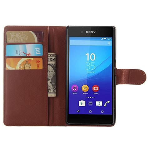 Sony Xperia Z5 Z5 Dual Leather Textured Standing sony xperia z5 xperia z5 dual textured wallet brown