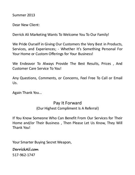 Bank Welcome Letter New Customer New Client Infopackage And Welcome Letter