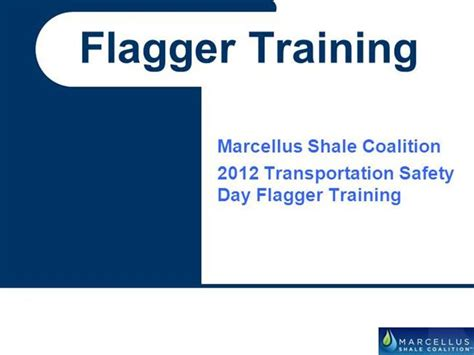 Flagger Certification Card Template by Marcellus Flagger Training Presentation April 2012a