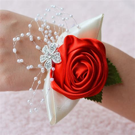 Handmade Wrist Corsage - handmade wedding wrist flower boutonniere bouquet