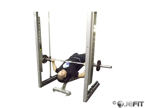 bench press with smith machine smith machine wide grip decline bench press exercise