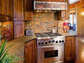 rustic kitchen with brick backsplash kitchen pinterest
