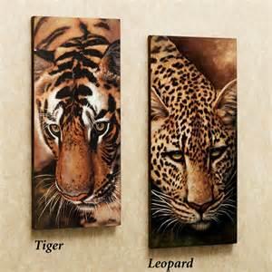 leopard and tiger canvas set