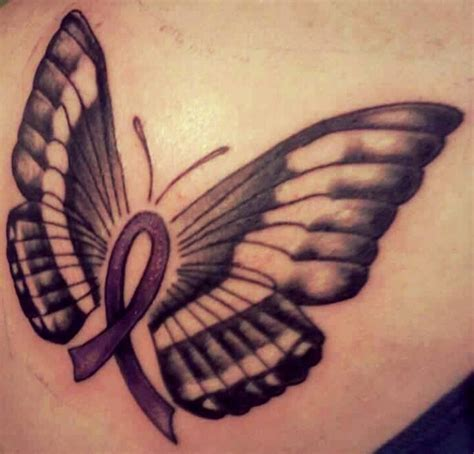 pancreatic cancer ribbon tattoos pancreatic cancer tattoos