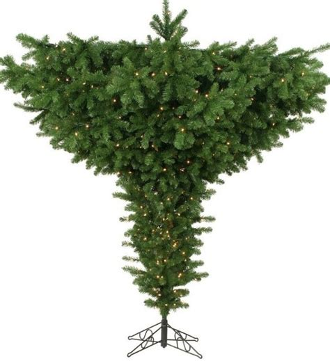 9 pre lit forest green spruce artificial upside down
