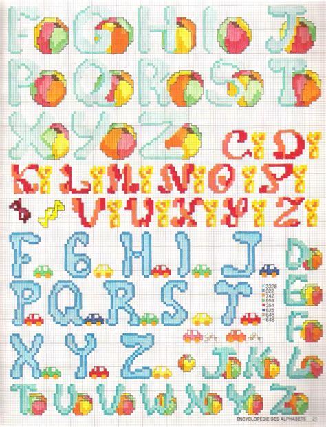 punto croce lettere per bambini alfabeto punto croce statello per bambini 2