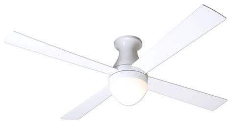 Hugger Ceiling Fans With Light And Remote Modern Fan Company Hugger Gloss White 52 Quot Ceiling Fan Cfl Light Remote Modern