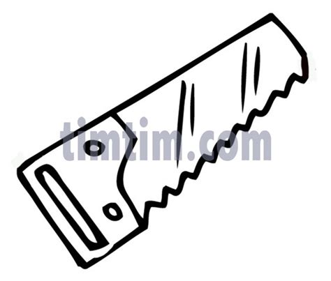 simple drawing tool free drawing of a saw bw from the category building home