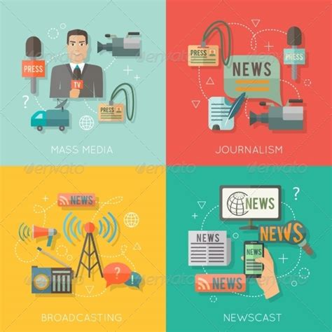 layout artist journalism mass media concept flat business composition by
