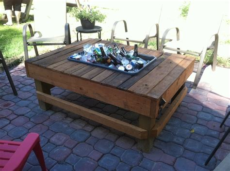 Patio Table Cooler The Cooler Patio Table Diy Tables I Want