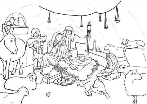 jesus is born nativity coloring page nativity jesus born in bethlehem in nativity coloring