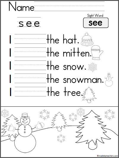 learning to write sentences worksheets kindergarten