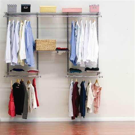 Grey Wardrobe Closet Clever Closet 1 8m Satin Grey Wardrobe System Bunnings