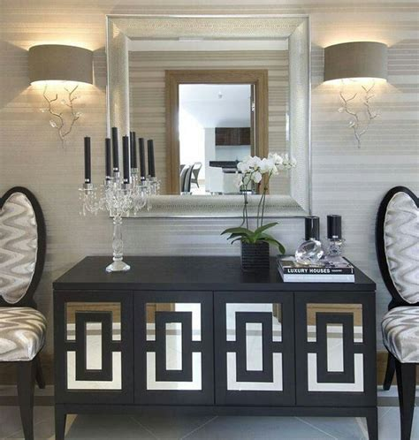upscale home decor sideboards astounding mirrored buffet cabinet mirrored