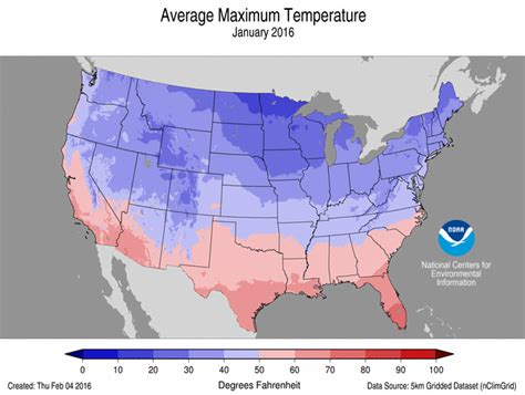 average temperature map usa january national climate report january 2016 january