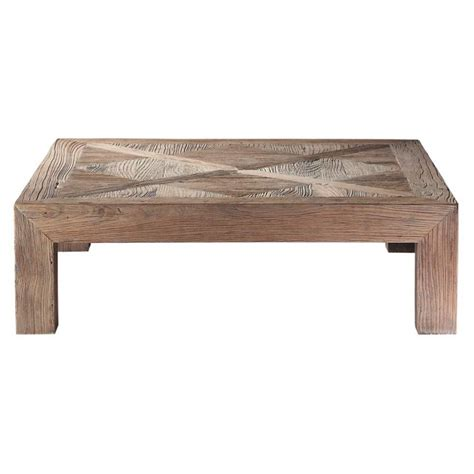 Recycled Solid Elm Coffee Table With Distressed Finish W Recycled Coffee Table
