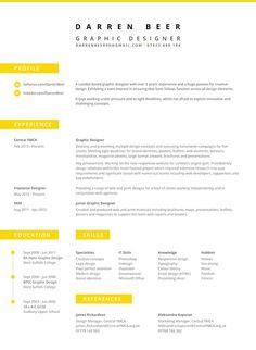 designspiration resume beautiful and sleek resume template cv template for ms