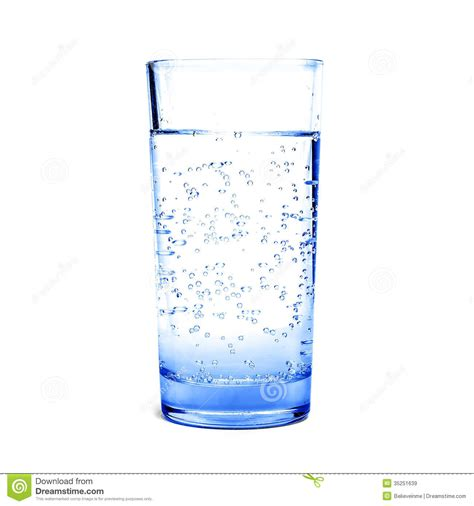 What To Fill Glass With Glass Of Blue Water Royalty Free Stock Images Image
