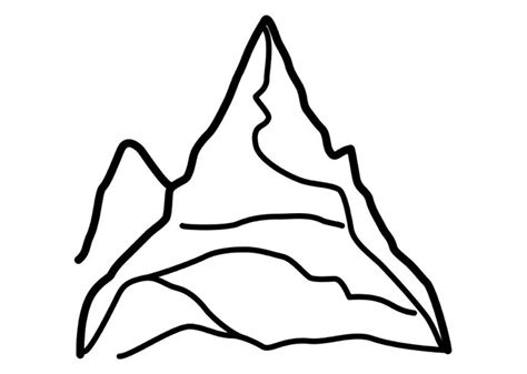 Mountain Coloring Page Coloring Book Mountain Coloring Page 2