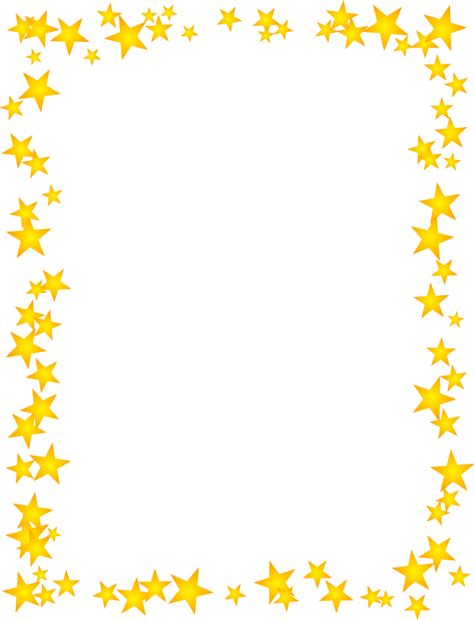 Star Border Template gold scattered border מסגרות