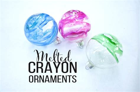 diy ornaments melted crayons melted crayon ornaments you won t believe how pretty they are clumsy crafter
